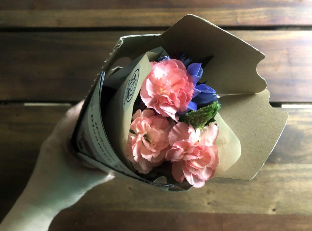 パッケージをあけた中身(花)の様子