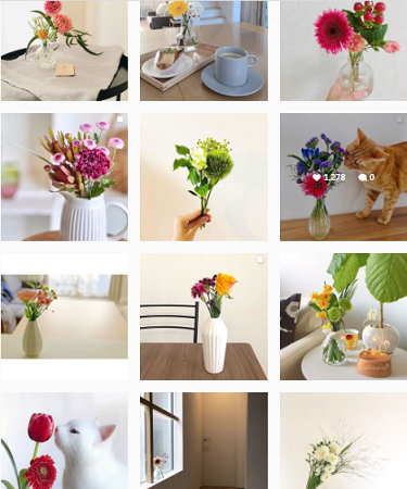 instagram-お花の定期便| Bloomee LIFE